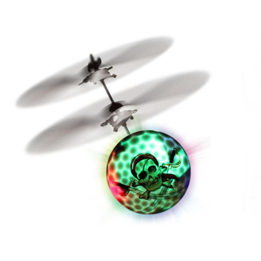 snowshine3 YLW RC Flying Ball Drone Helicopter Ball Built-in Shinning LED Lighting for Kids Toy Table game Pirate