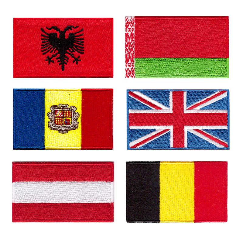 Plus de 200 pays repassent les patchs pour les vêtements/10 pièces patch broderie drapeau, accepter la personnalisation
