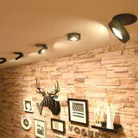 3 W/5 W/7 W/12 W slim LED embedded decke unten lampe, faltbare und 360 grad drehbare gebaut in COB Spot licht Einbau-downlight