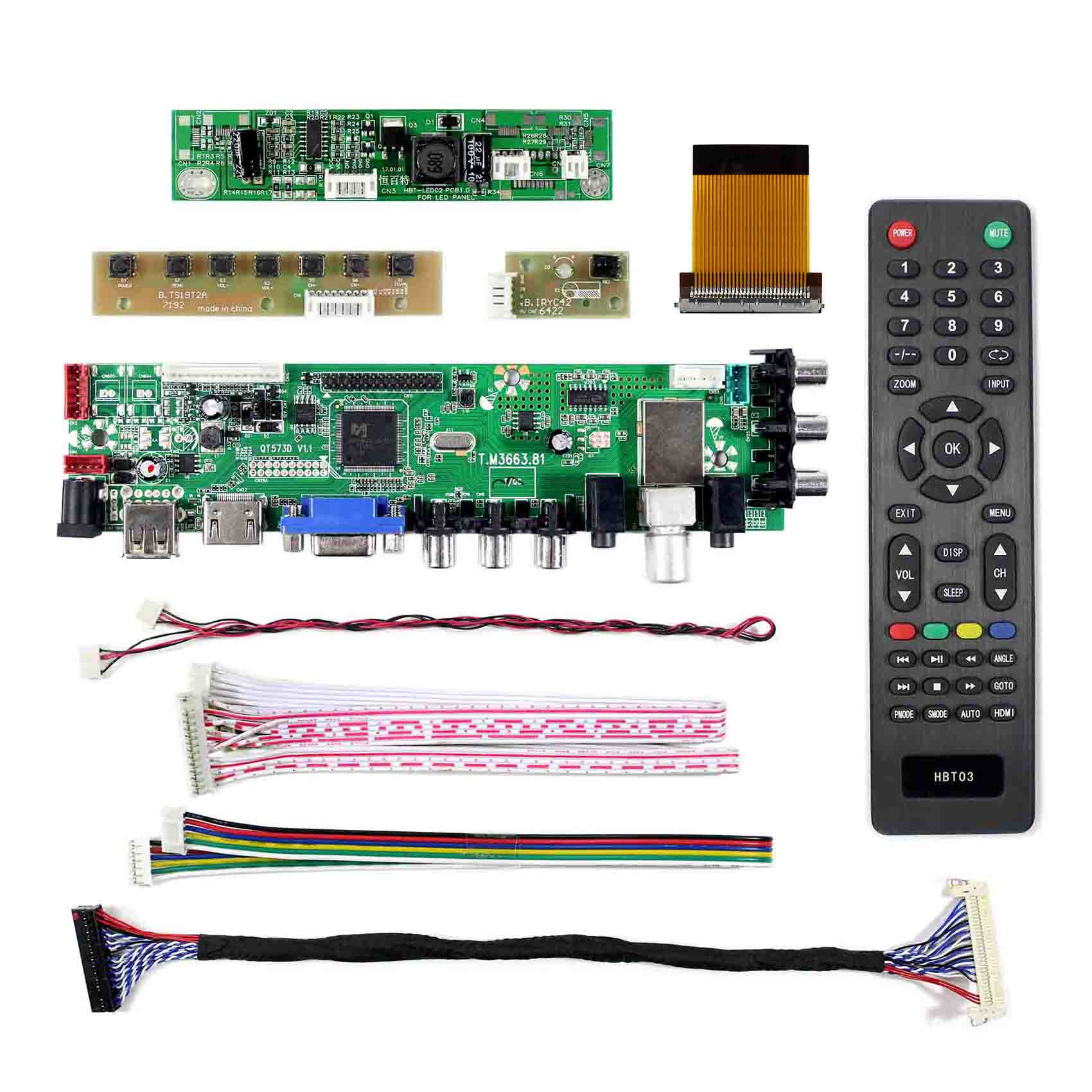 "HDMI VGA AV USB LCD Driver Board For 21.5/"" LTM215HT04  1920x1080 LCD Screen"