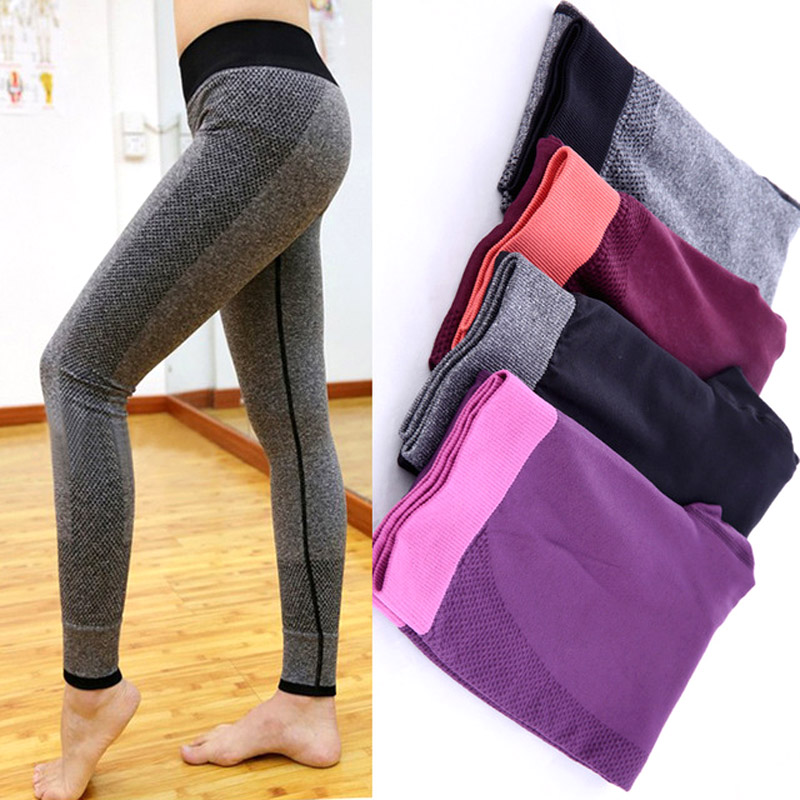 Daddy Chen Women Tight Sportswear Pant wear Leggings High Elastic Thin Sports Yoga Pants Gym Fitness Long Trousers Running Pants