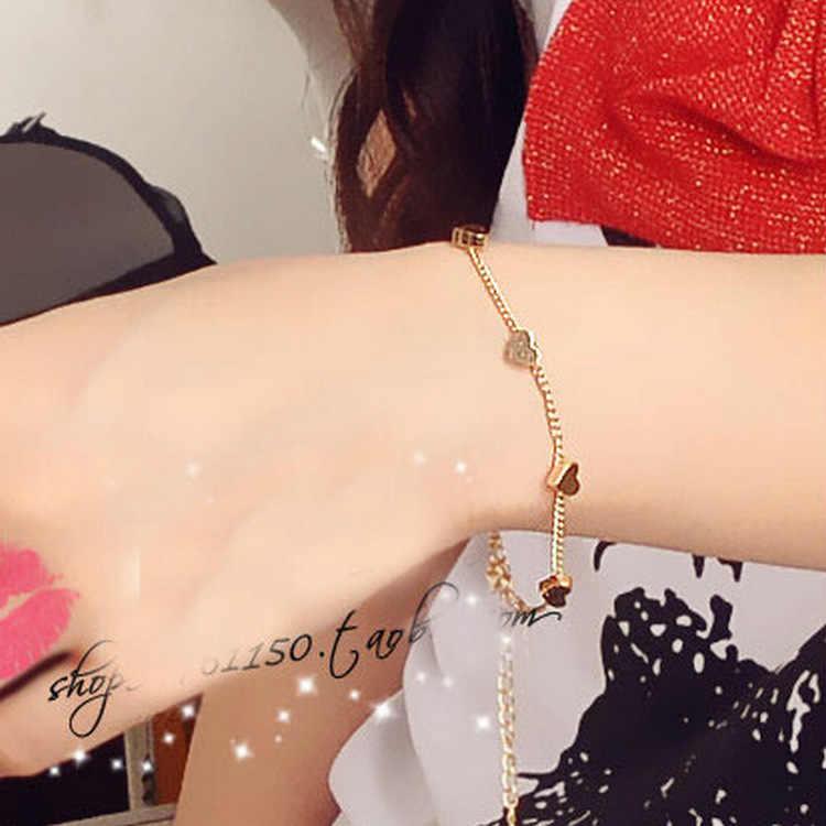 1 шт. продать сердце звезды очарование Браслеты Мода цвета: золотистый, серебристый Цвет НОВЫЕ геометрические регулируемые браслеты для Для женщин Модные украшения подарок
