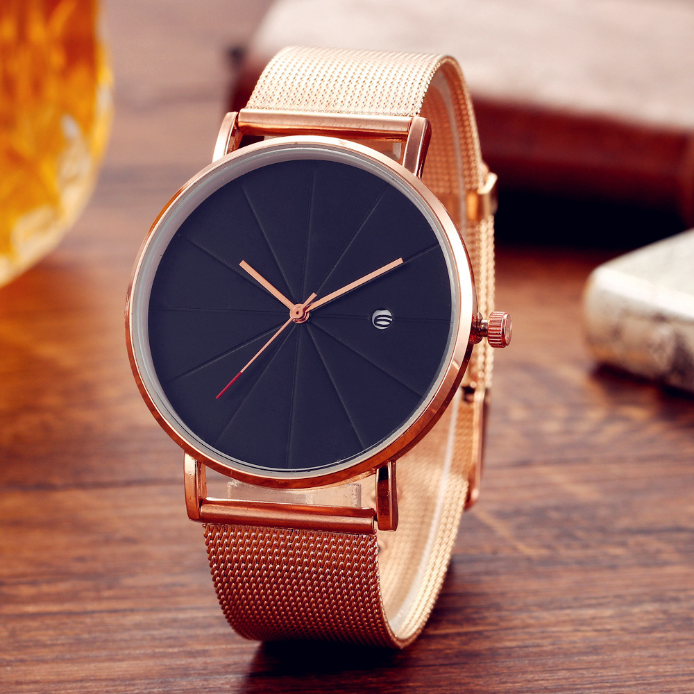 New Simple Male And Female Calendar Unisex Watch Man And Women Fashion Quartz Watch