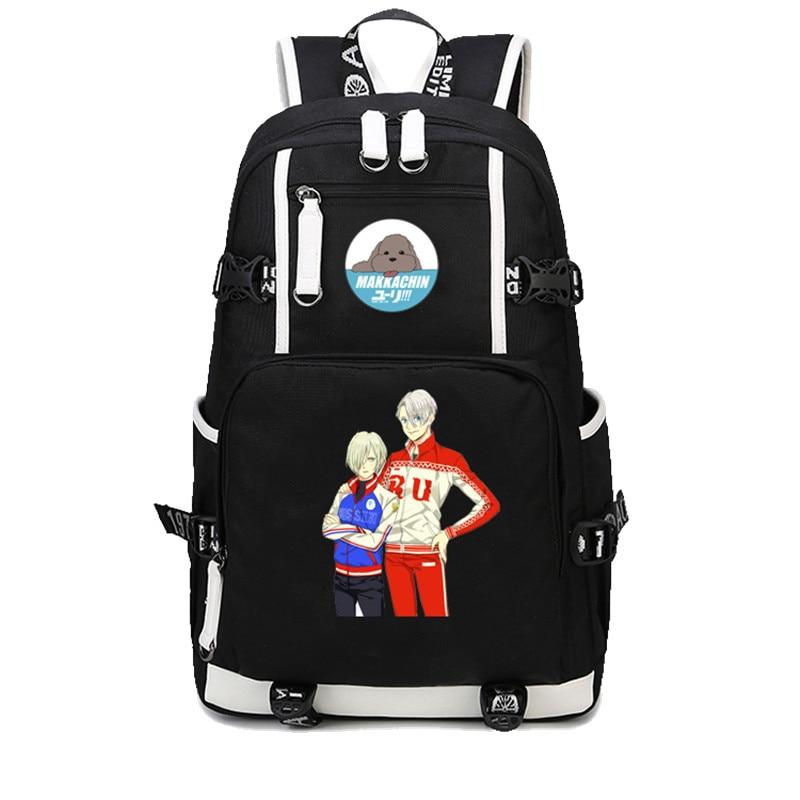 on ICE Katsuki Yuri Backpack Shoulder Bag With Laptop Bag New 02 YURI!!