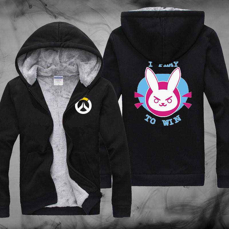 Winter Hot Sale Hoodies  Overwatchs Cosplay Thickening Hooded Jacket  With Cashmere Sweater Inside Winter Warm  Hoodies  CS287