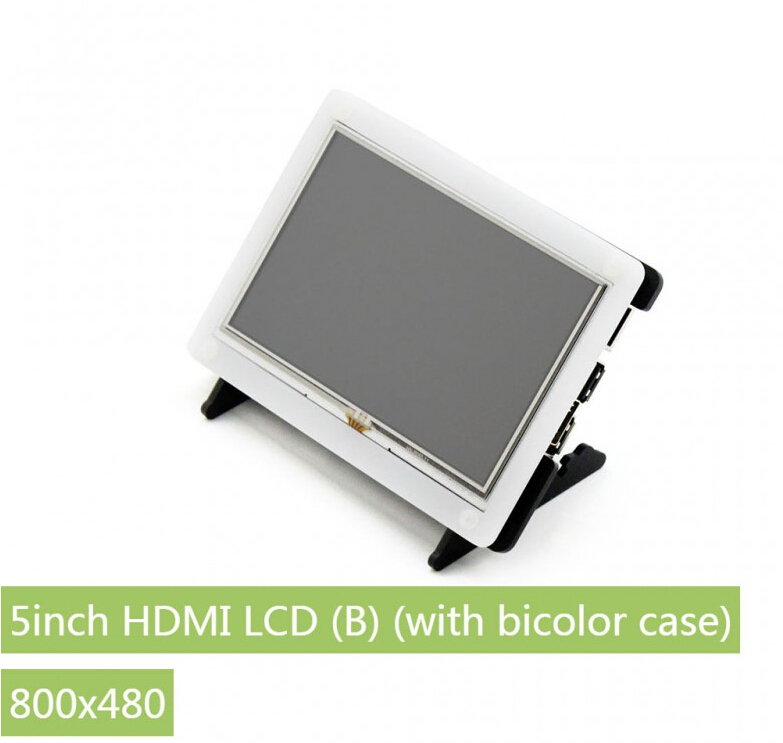 Raspberry Pi LCD 5inch HDMI LCD (B) (with bicolor case) 800*480 Touch Screen Supports all Raspberry Pi 3 B Banana Pi / Pro raspberry pi lcd display 5 inch hdmi lcd b with clear case touch screen supports raspberry pi 3 2 b banana pi banana pro