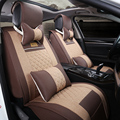 New Car Seat Cover Cushion Senior Leather+flax Silk Sports Seat Covers , Car Styling Covers For Nissan BMW Audi Ford All Car