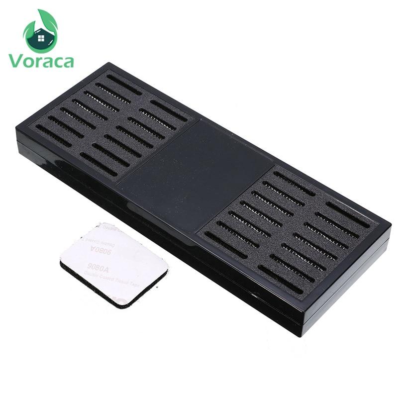 165*60*15mm Portable Rectangular Smoking Cigar Humidor Black Tobacco Humidifier Cigar Storage Box Smoking Accessories Tools