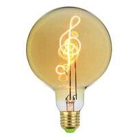 TIANFAN Edison Bulbs Vintage Light Bulb G125 Led Bulb Music Filament 4W Dimmable 220V E27 Table Lamp Bulb
