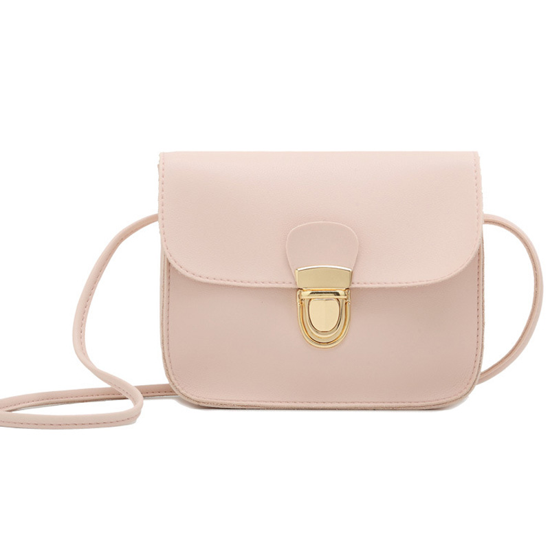 Women Messenger Bag Woman Bag 2019 Famous Brands Women Fashion Solid Color Cover Lock Shoulder Crossbody Phone Beach Bag
