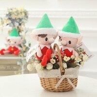 Новогоднее украшение плюшевые эльф игрушки вечерние подарок 30 см милые рождественские дух кукла рождественскую игрушку W7342