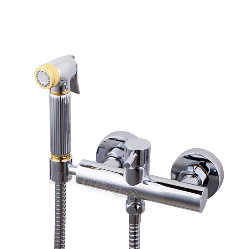 Free shipping High-grade Brass Bidet Shattaf Shower Sprayer with Hot and Cold Water Mixer Valve Bar Holder 02-189 free shipping 1 2 inch dn15 floating valve cold and hot water tank stainless valve water tower float valve switch
