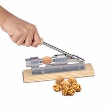 Dziadek do orzechów stal nierdzewna z drewnianą rączką wielofunkcyjny skorupa dziadek do orzechów włoskich dziadek do orzechów szczypce otwieracz do metalu zacisk kuchenny narzędzie do przycinania tanie tanio CN (pochodzenie) Orzechów krakersy Lfgb Ce ue Walnut Cracker Zaopatrzony Ekologiczne STAINLESS STEEL Owoców i warzyw narzędzia