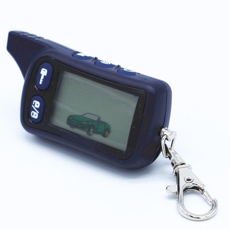 TZ 9010 LCD Télécommande Clé Fob Chaîne Pour Russe Version 2-Way Système D'alarme De Voiture Tomahawk TZ9010 TZ-9010