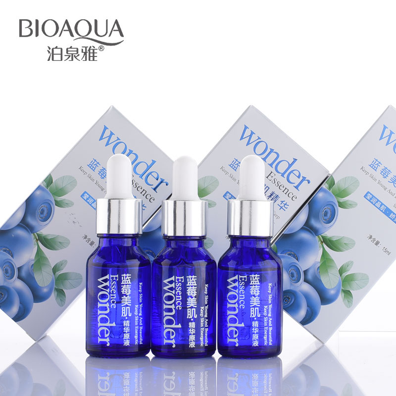 BIOAQUA Skin Care Blueberry Hyaluronic Serum Acid Liquid Anti Wrinkle Aging Collagen Essence Whitening Moisturizing Face Cream image