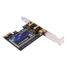 450Mbps Wireless PCI-E PCI Express Card Adapter with 3Pcs 2dBi External Detachable Antenna and CD Driver for Intel 6300 Chipset