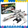 1586pcs Space Wars Red Five X Wing Starfighter 05039 Model Building Blocks Teenagers Gifts Kids Set