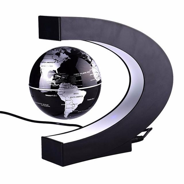 Novelty c forma led luz de levitação magnética mapa do mundo flutuante globo antigravidade magia/novel aniversário lâmpada casa dezembro noite lâmpada