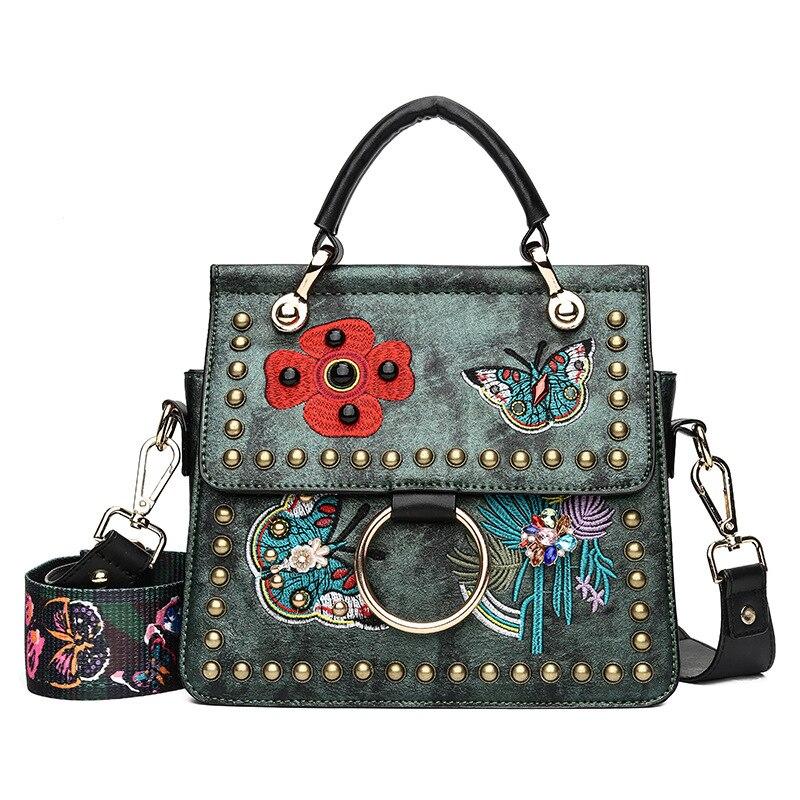 Kvinnor Varumärken Handväskor Med Rivet Färgglada Butterfly - Handväskor - Foto 2