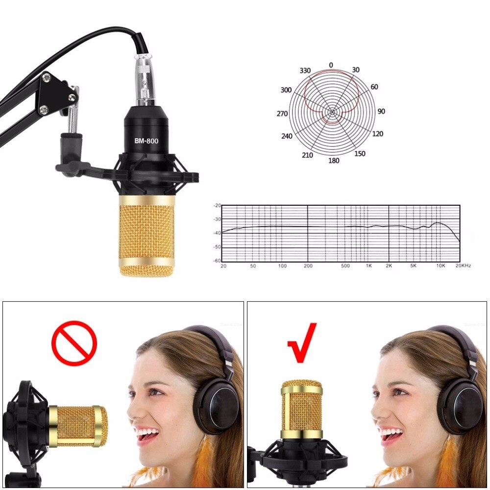 Professionnel bm 800 micro studio bm-800 microphone à condensateur Kits Faisceau micro pour karaoké bm 800 pour Ordinateur Mikrofon - 3