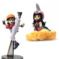 4 Styles Dragon Ball Z Chichi Goku bulma Bobo Action Figure Güzel Paketi Ile japonya Anime Koleksiyonu Model Oyuncaklar Hediye # E Için