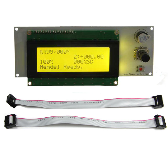3D Printer LCD 2004 Display Module Smart 20*4 for Utimaker / Rumba / GT2560 / GTM32 Main Board Yellow