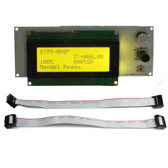 3D Printer LCD 2004 Display Module Smart 20*4 For Utimaker / Rumba / GT2560 / GTM32 Main Board Yellow