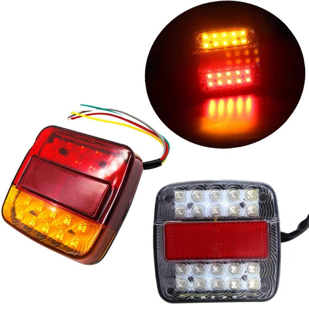 Led Verlichting Camper 12v 2pcs 12v Truck Lights Led Waterproof Rear Tail Brake Reverse Lights Turn Indiactor Atv Trailer Caravan Campers 8 19 26 20 46 Led