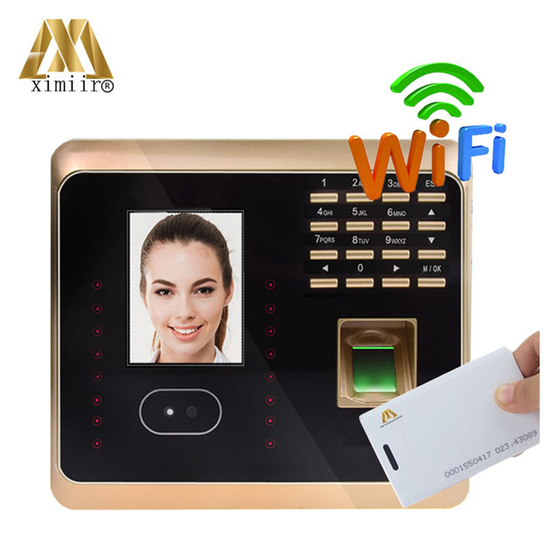 WIFI TCP/IP Face Recognition Time Clock UF100 Face+fingerprint+RFID  Time Recording With Keypad Facial Time Attendance