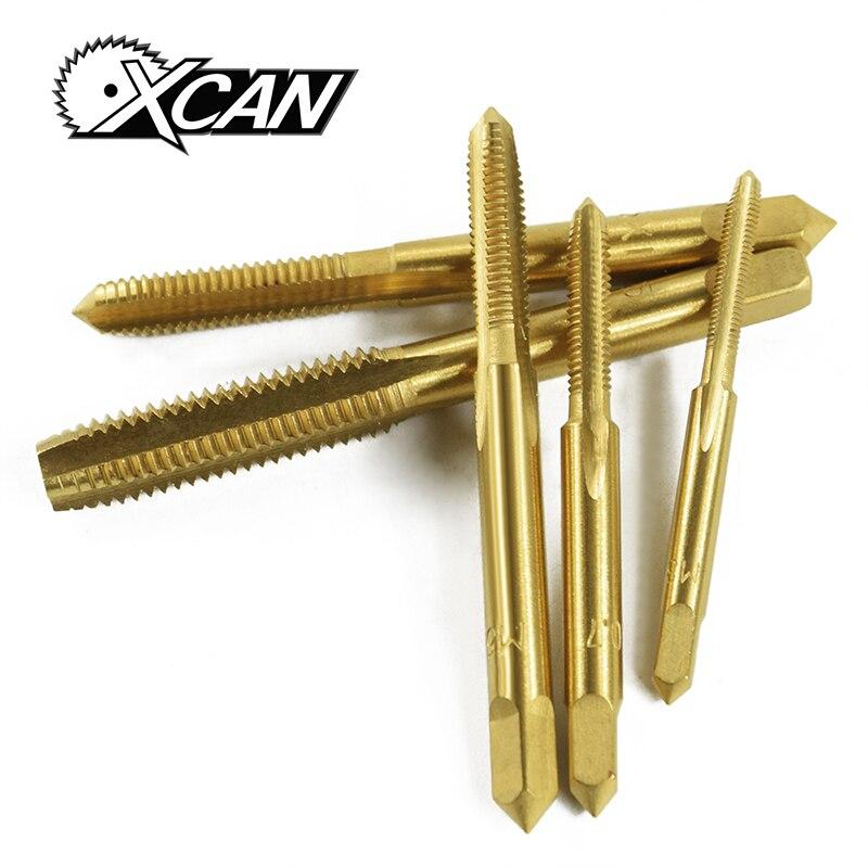 Xcan 5 Stücke M3 M4 M5 M6 M8 Titan Beschichtung Metric Gewinde Tap Hss Hand Gewinde Metric Stecker Tippen Schraube Wasserhähne Reichhaltiges Angebot Und Schnelle Lieferung Handwerkzeuge