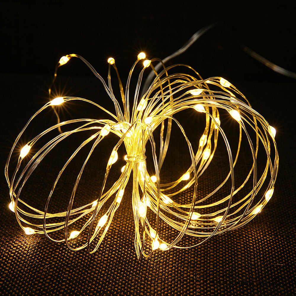 ANBLUB 1M 2M 3M 5M 10M נחושת חוט LED מחרוזת אורות חג תאורת פיות זר עבור חג המולד מסיבת חתונת עץ קישוט