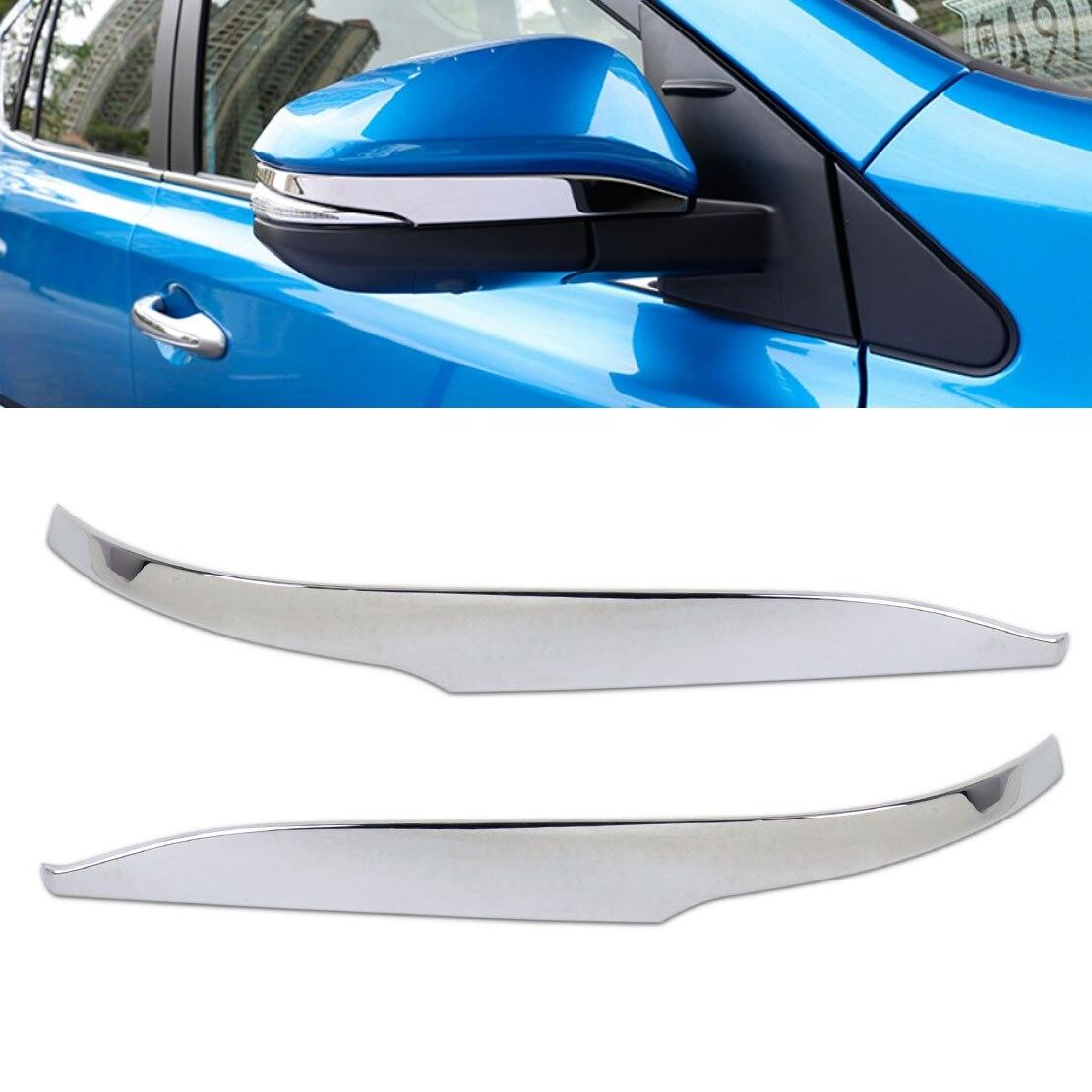 CITALL 2 Pcs Voiture-styling Chrome Side Rétroviseur Porte Miroir Bande De Couverture garniture Moulure pour Toyota RAV4 2013 2014 2015 2016 2017