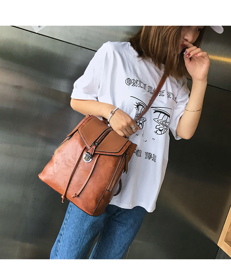 HTB1pX ZbRSD3KVjSZFqq6A4bpXaq Vintage Matte Leather Women Backpacks High Quality Multifunctional Shoulder Bag Female Girls Backpack Retro Schoolbag XA533H