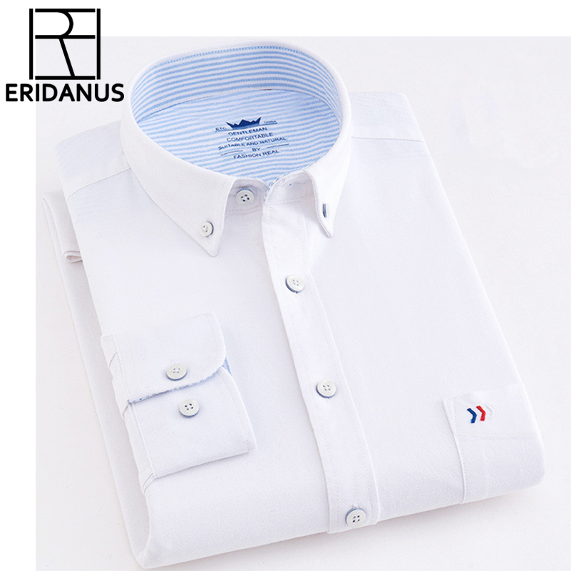 Brand New Men Shirs 100% Cotton Fashion Casual Long Sleeve Business Formal Non Iron Social Solid Design Male Shirt Slim Fit X617