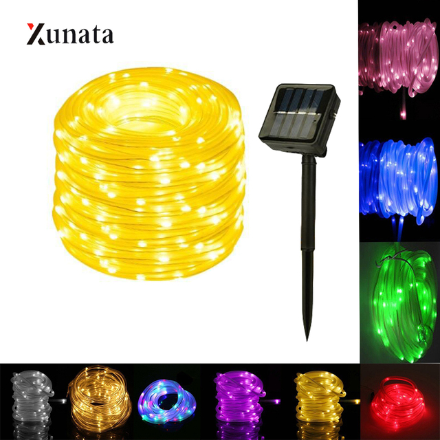 XUNATA 7/12M 50/100LEDs Solar Light String Fairy Waterproof LED Copper Wire Lamp Strip for Outdoor Party Garden Decoration