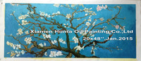 Linen Canvas oil painting reproduction,Blossoming Almond Tree by vincent van gogh,Free DHL Shipping,100% handmade