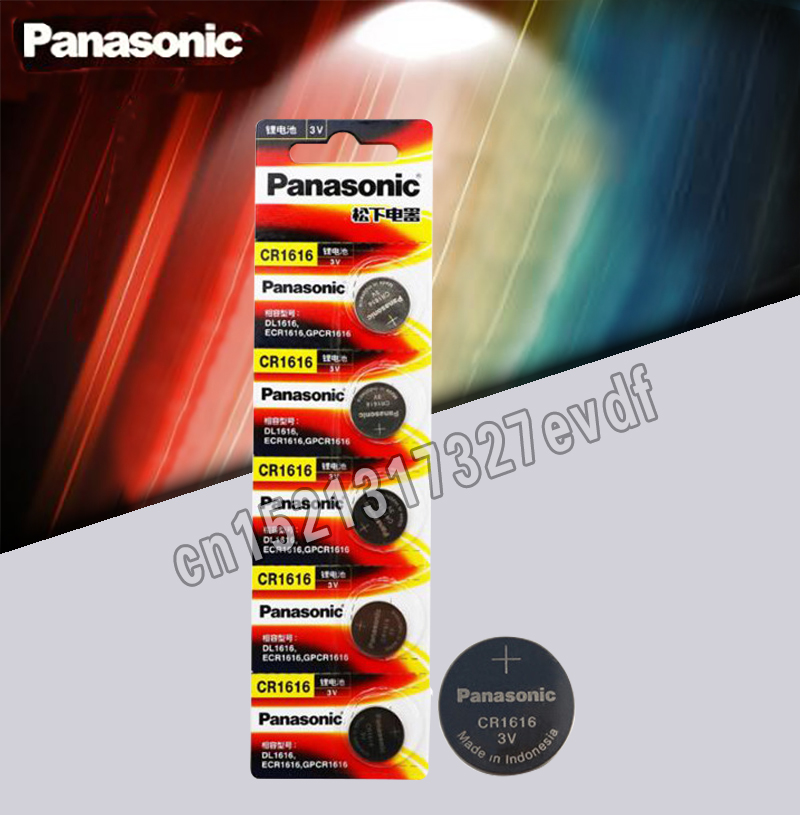 CR1616 5PCS Button Cell Coin Batteries Panasonic 100% Original Cr 1616 3V Lithium Battery DL1616 ECR1616 LM1616