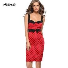 bfab53d5da692 Buy red polka dot summer dress women 2018 vintage and get free ...