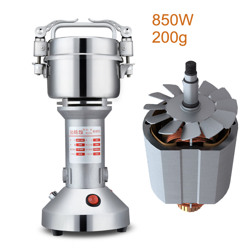 JA204 portable mini stainless steel grinder Chinese herbal grain cereals mill powder machine superfine grinding machine 18 free ship 1000g automatic swing herbal medicines cereals grain grinder mill electric ultrafine powder grinding mill machine