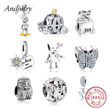 925 Sterling Silver Robot Girl Bella Bot Charm Fits Original Pandora Charms Bracelet Bead Pendant DIY Jewelry Making Berloque(China)