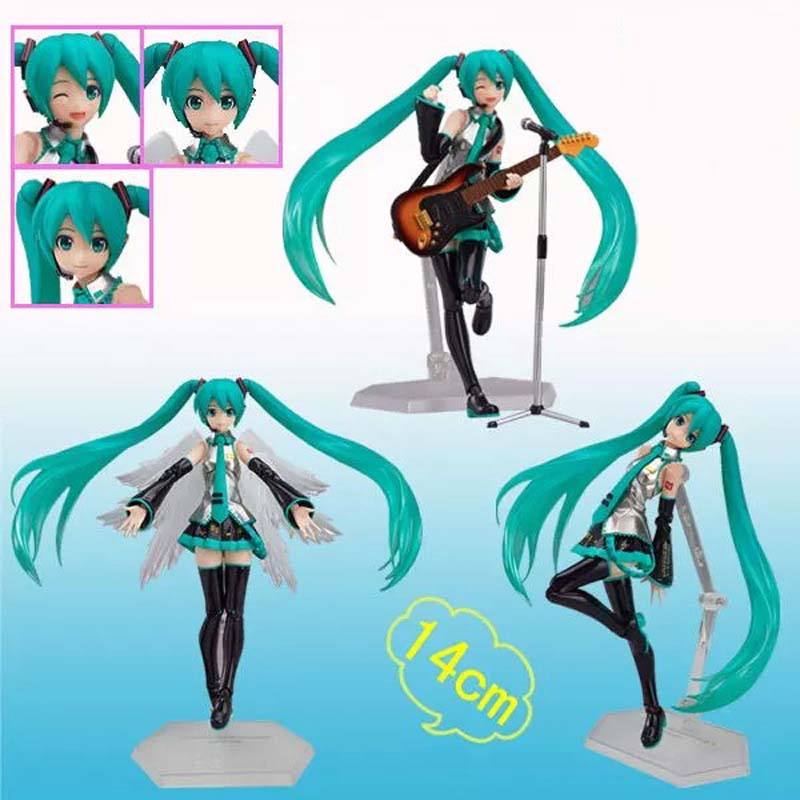 Hatsune Miku PVC Action Figure Toys Brinquedos Japan Anime Model Collection Gift 14cm hot anime vocaloid hatsune miku action figures pvc brinquedos collection figures toys kids birthday christmas gift free shipping