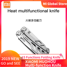 in Stock XIAOMI HUOHOU Multi-function Pocket Folding Knife 15 Functions Folding Knife Bottle Opener Screwdriver /Pliers Outdoor#(China)