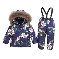 2018 Kids Winter Suit New Children's Winter Sport Suit for Girl Down Jacket 2Pcs Sets Baby Boy Outdoor Hooded Warm Suits 2 6T
