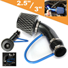 Mayitr 3 Inch 76mm Universal Car Racing Cold Air Intake Filter System Aluminum Pipe Power Flow