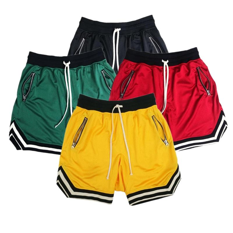 2019 summer Solid color mesh compression quick-drying shorts men's sweatpants gyms Fitness Men shorts slim fit clothes XXXL
