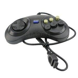 Image 2 - 6 przycisk przewodowy Pad gamepad dla Mega Drive Megadrive Sega MD (rodzaju