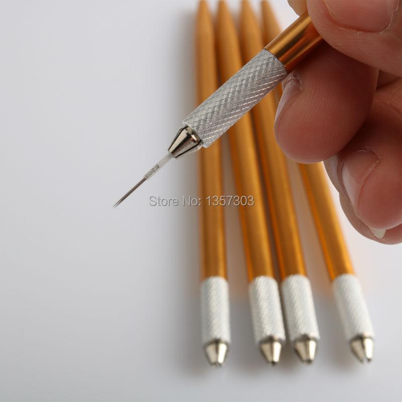 새로운 디자인 30Pcs 영구 메이크업 눈썹 펜 문신 수동 Microblading 잉크 펜 화장품 자수 블레이드 문신 용품