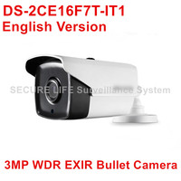 DS 2CE16F7T IT1 English Version 3MP 120dB WDR Bullet Turbo HD TVI Camera Up To 20m