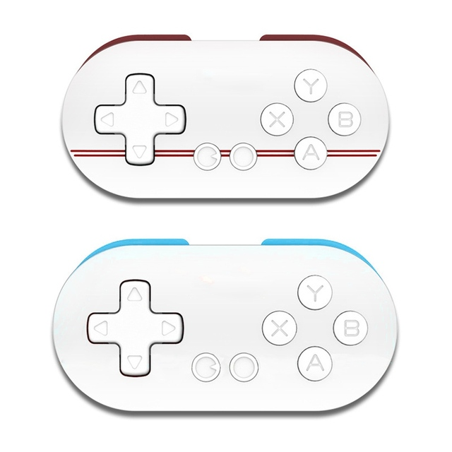 US $7 72 23% OFF|Mini FC Zero Wireless Game Controller Wireless Bluetooth  GamePad Shutter for Android/ iOS/ Iphone/ Windows / Mac OS-in Gamepads from