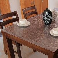 Одноразовые мягкие скатерть высокой стойкостью к температуре коврик стол кристалл пластина водонепроницаемый прозрачные пвх скраб
